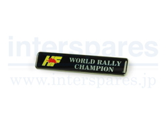 World Rally Champion エンブレム